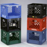 Stacked Milkcrates